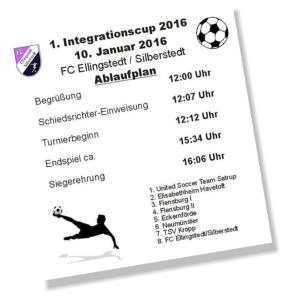 Der Flyer zum Integrationscup 2016